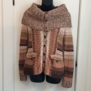Anthropologie Sleeping on Snow wool blend sweater